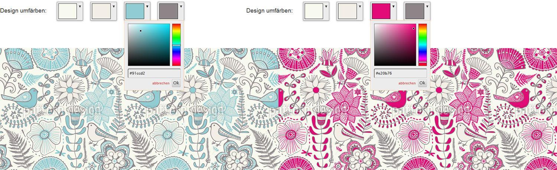 Einzelne Farben ersetzen - perfekte Stoffe in Wunschfarbe